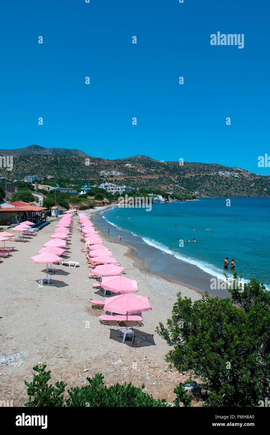 Havania Beach, Agios Nikolaos, Crete, Greece - Stock Image