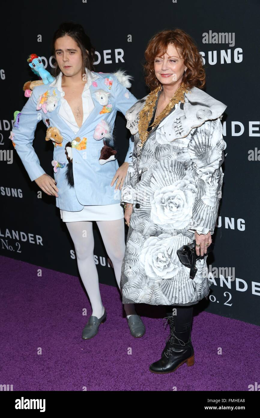 'Zoolander 2' World Premiere at Alice Tully Hall - Arrivals  Featuring: Miles Robbins, Susan Sarandon Where: - Stock Image