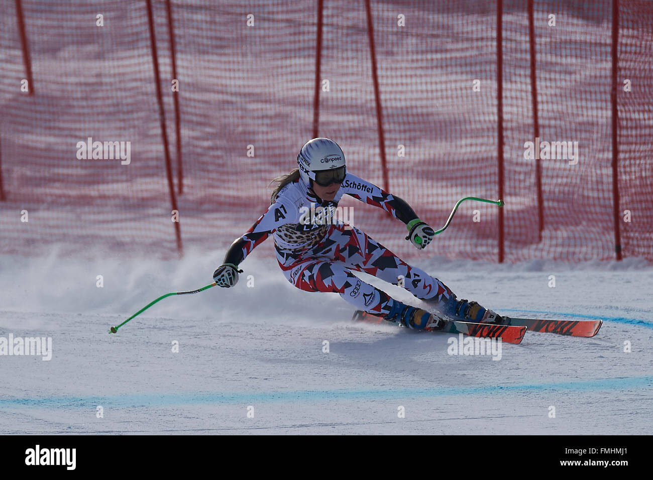 Lenzerheide, Switzerland. 12th March, 2016. Tamara Tippler (AUT) during her run in the Ladies' Super G at the Audi - Stock Image