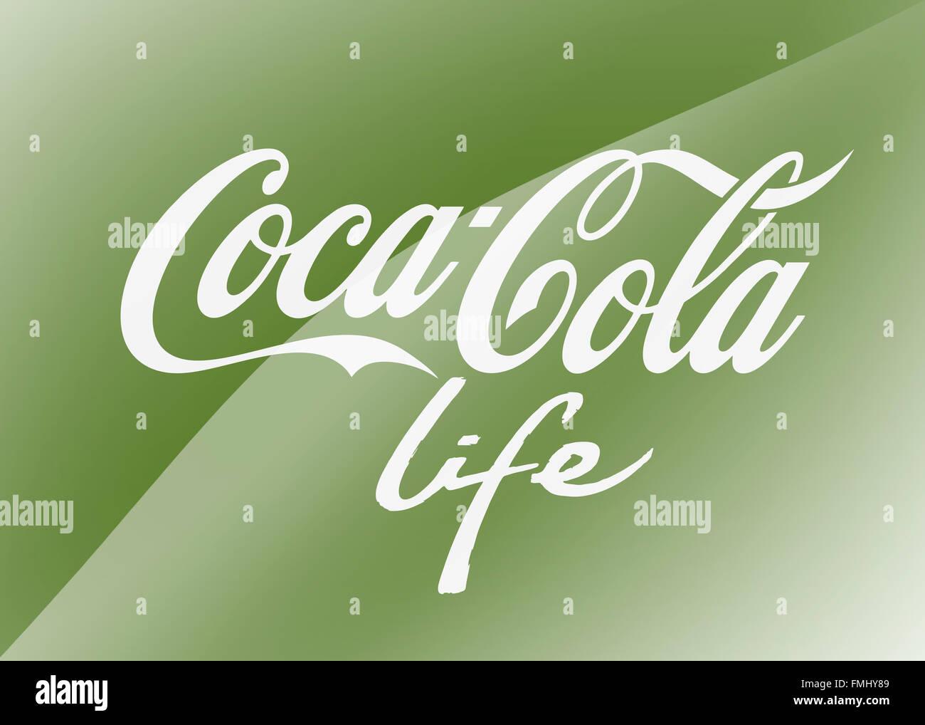 Coca Cola life logo Stock Photo