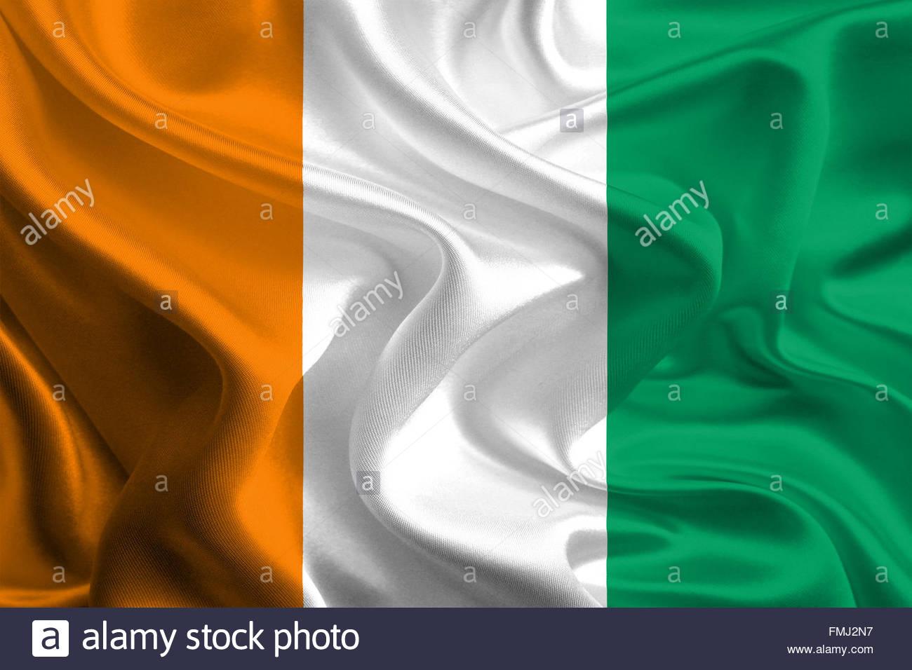 Flag of Cote d'Ivoire (Ivory Coast) - Stock Image