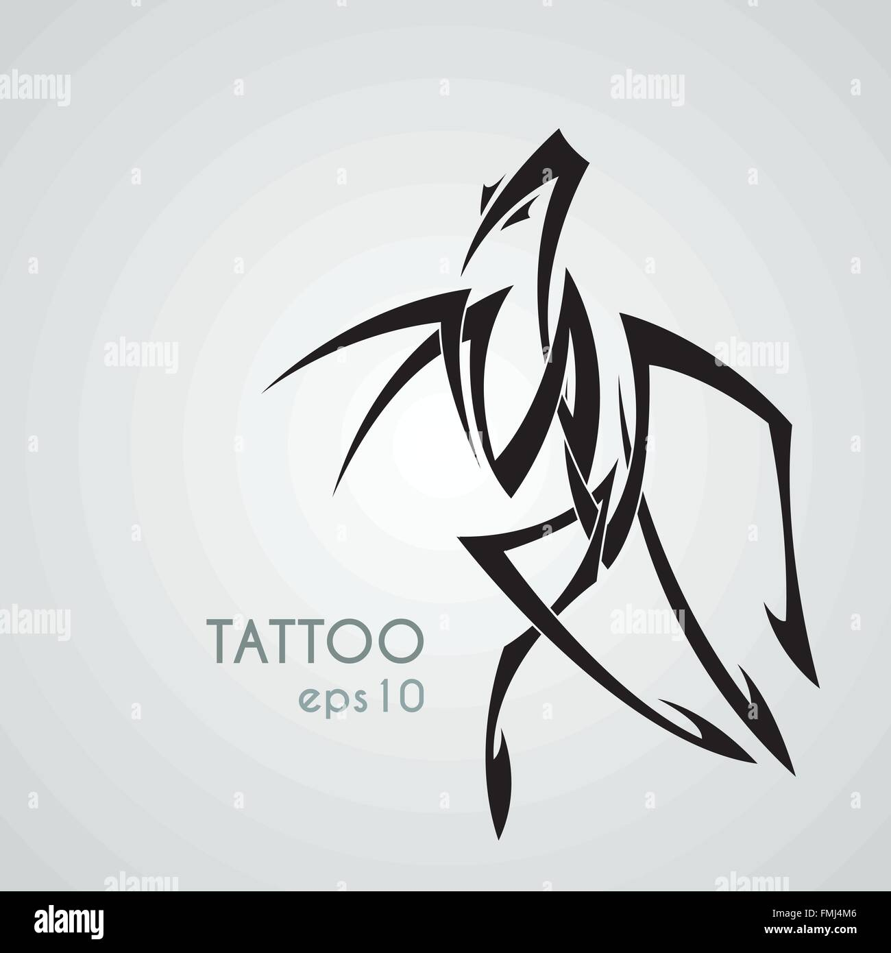 Vector Image Of A Praying Mantis Style Tribal Tattoo Stock Vector