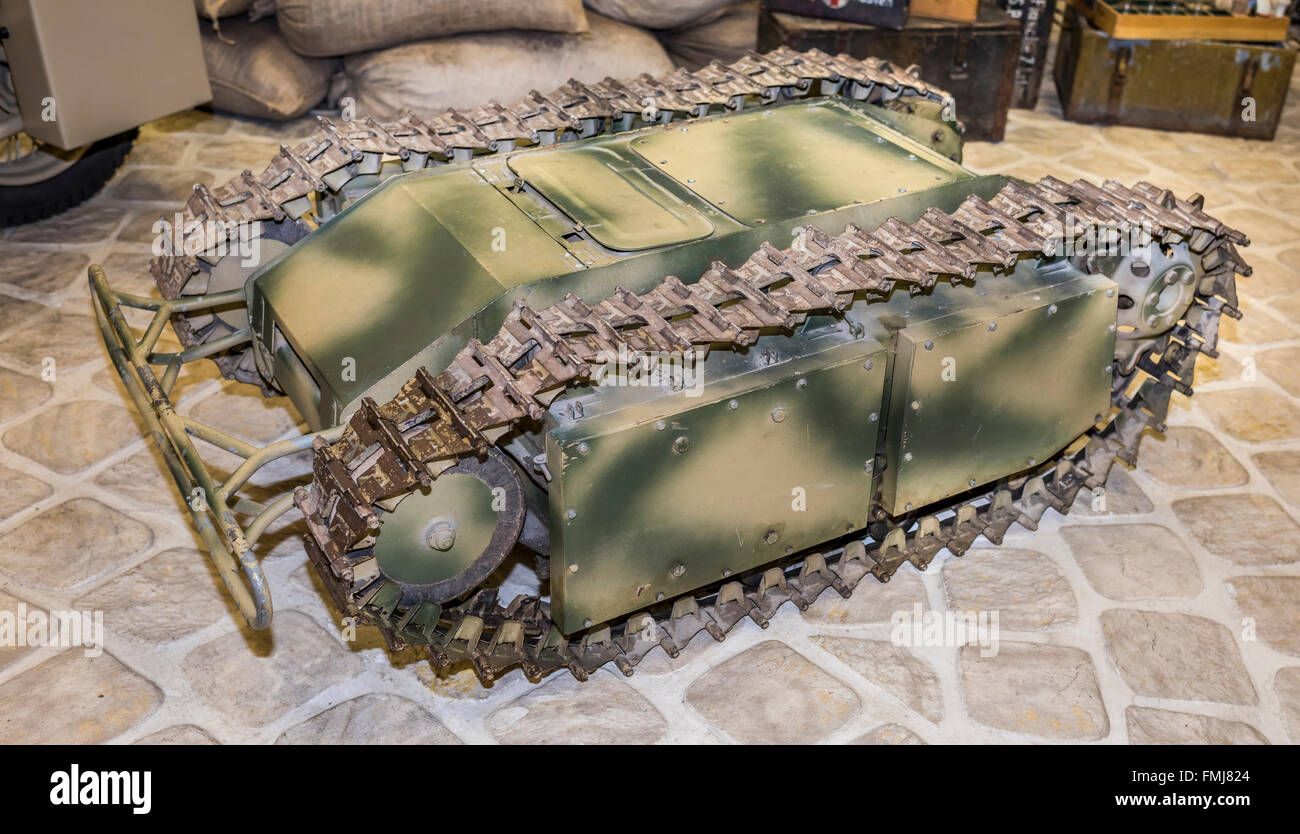 MOSCOW, RUSSIA- DECEMBER 15 - Goliath-Sd.kfz.302-carrier of the explosive charge (Germany),1942.Weight, kg-370 at - Stock Image