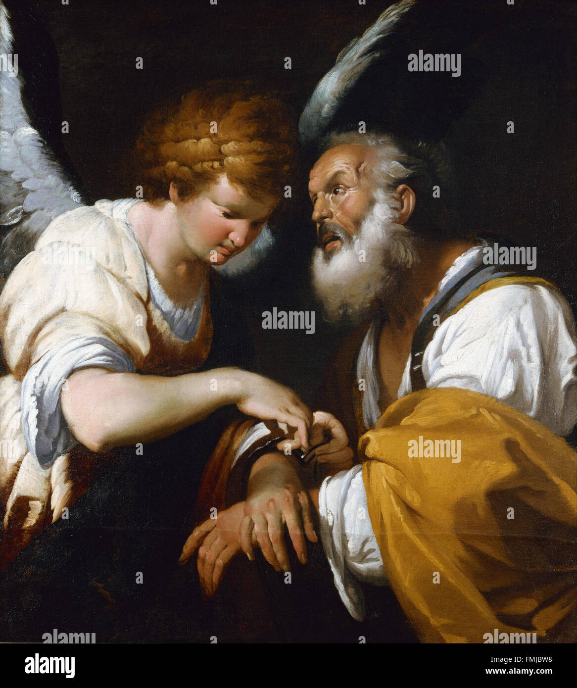 Bernardo Strozzi - The release of St Peter - Stock Image