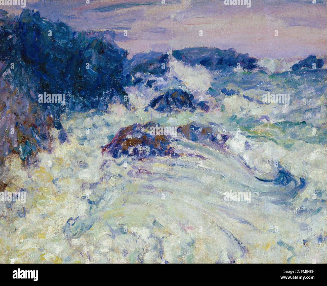 John Peter Russell - Rough sea, Morestil - Stock Image