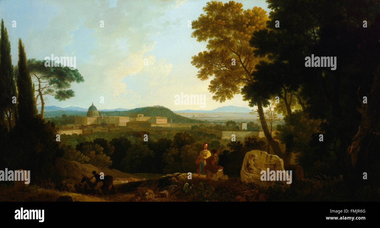 Richard Wilson - St Peters and the Vatican from the Janiculum, Rome - Stock Image