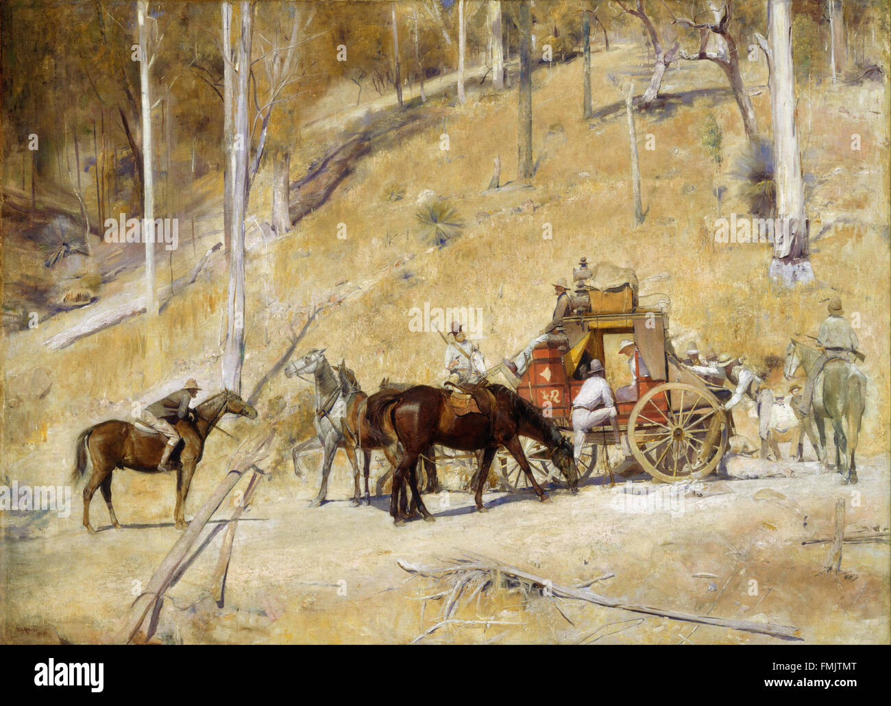 Tom Roberts - Bailed up - Stock Image