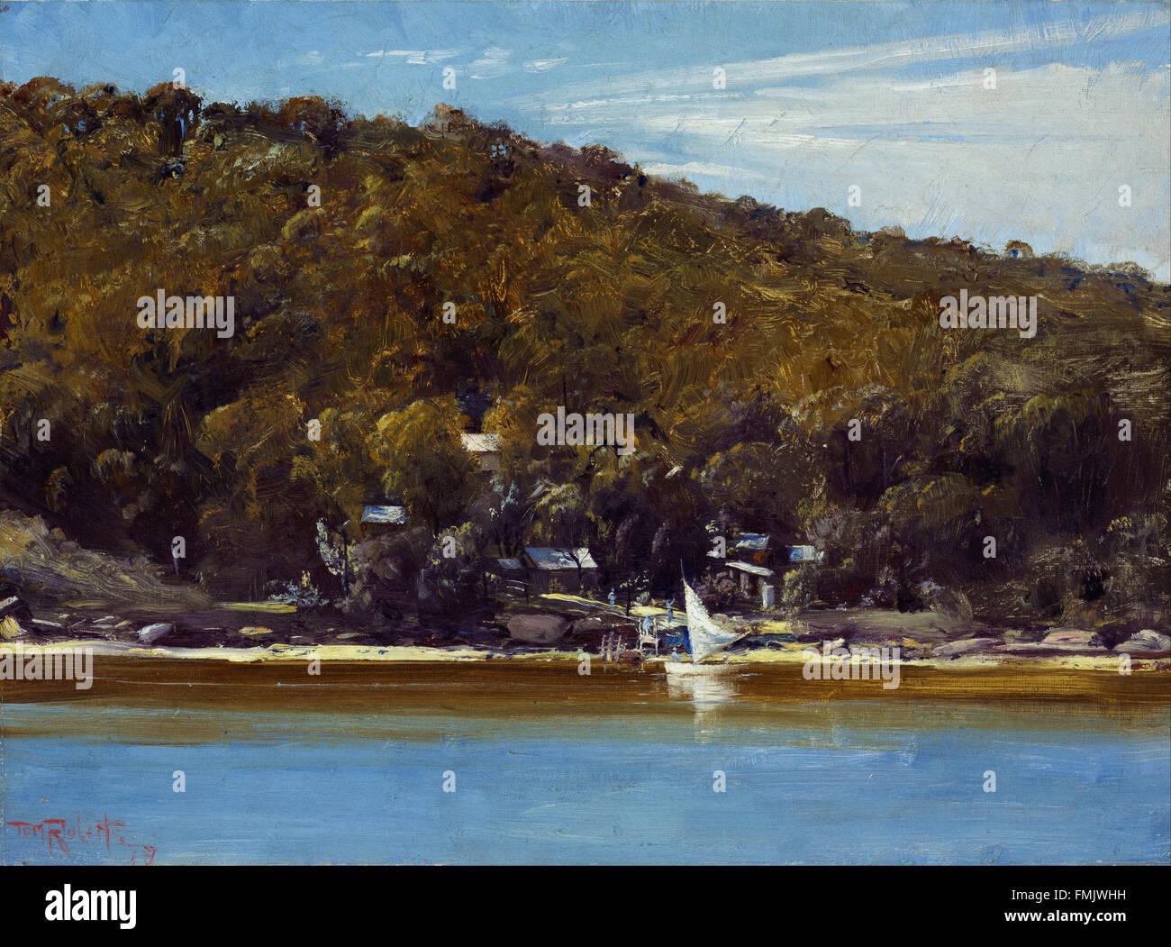 Tom Roberts - The camp, Sirius Cove - Stock Image