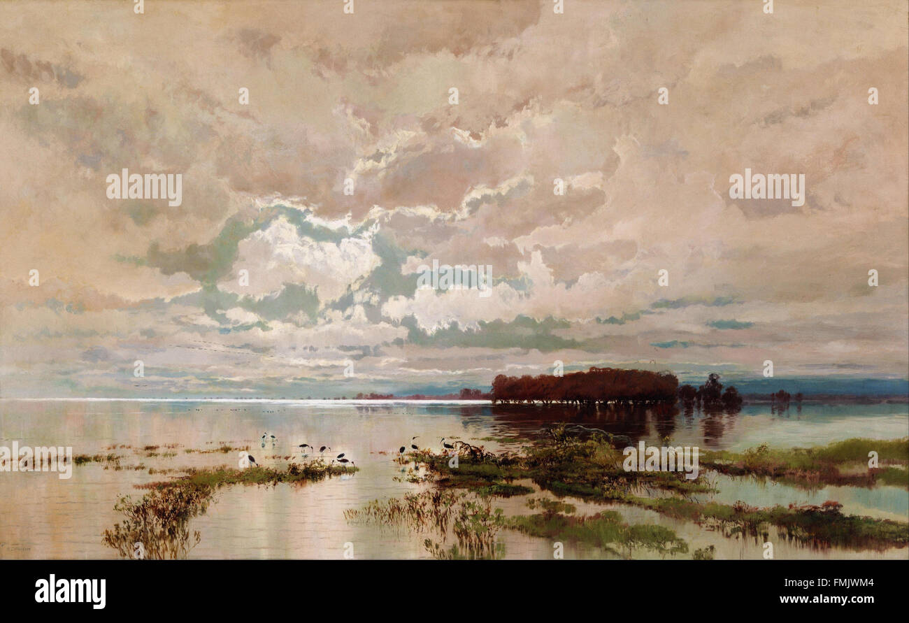 Wc Piguenit - The flood in the Darling 1890 - Stock Image