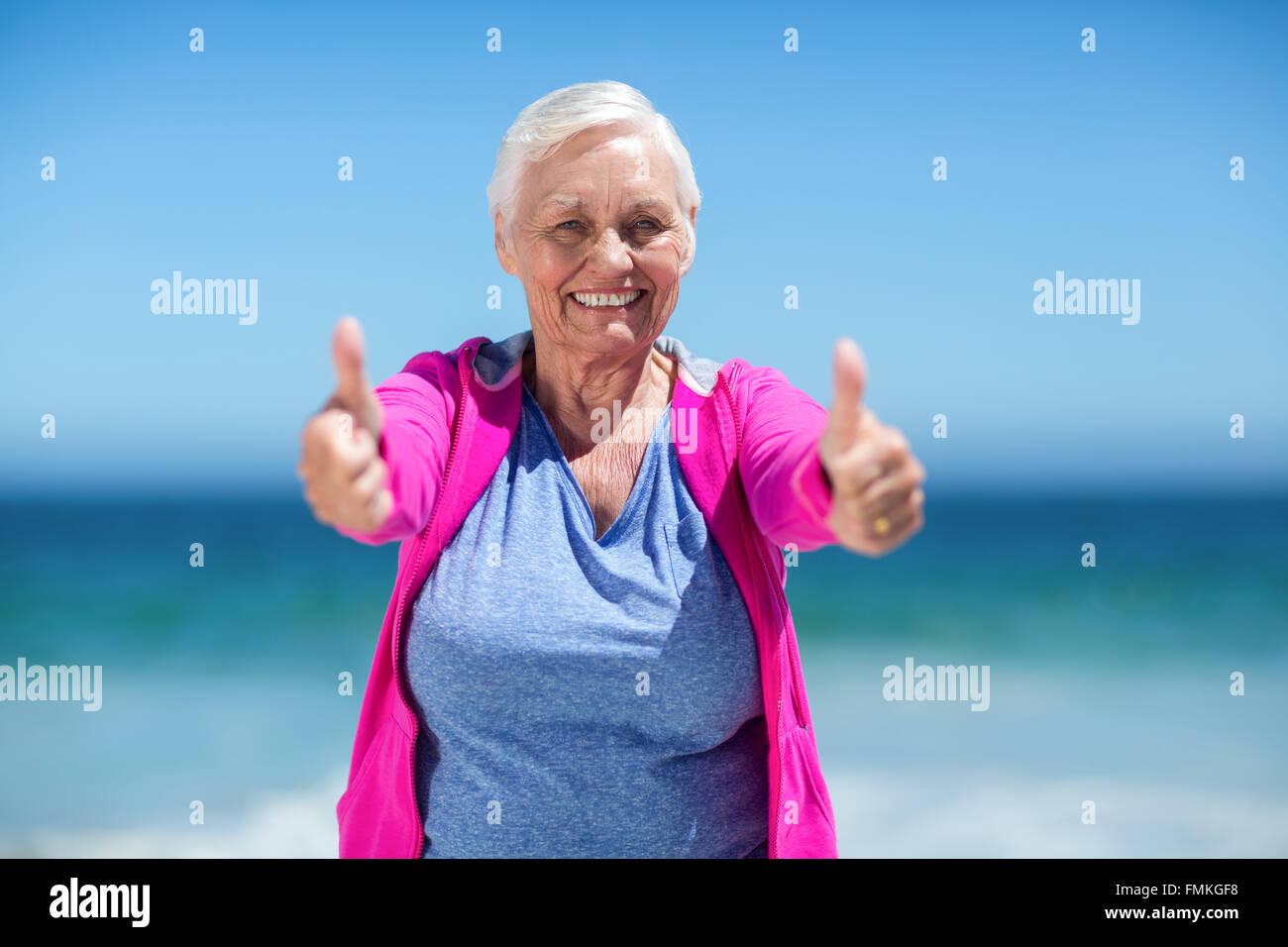 thumbs up woman senior stock photos & thumbs up woman senior stock