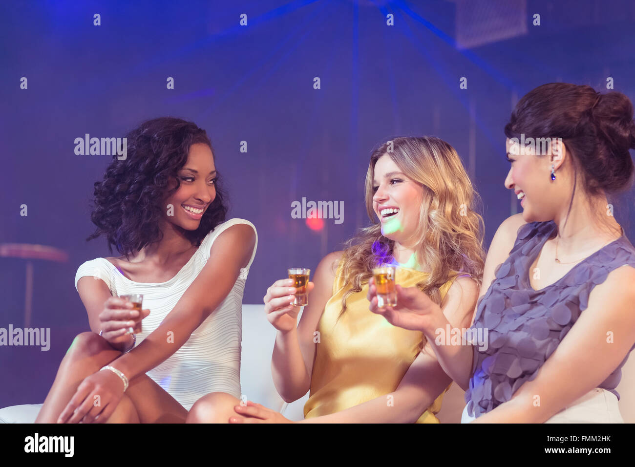Pretty girls celebrating - Stock Image