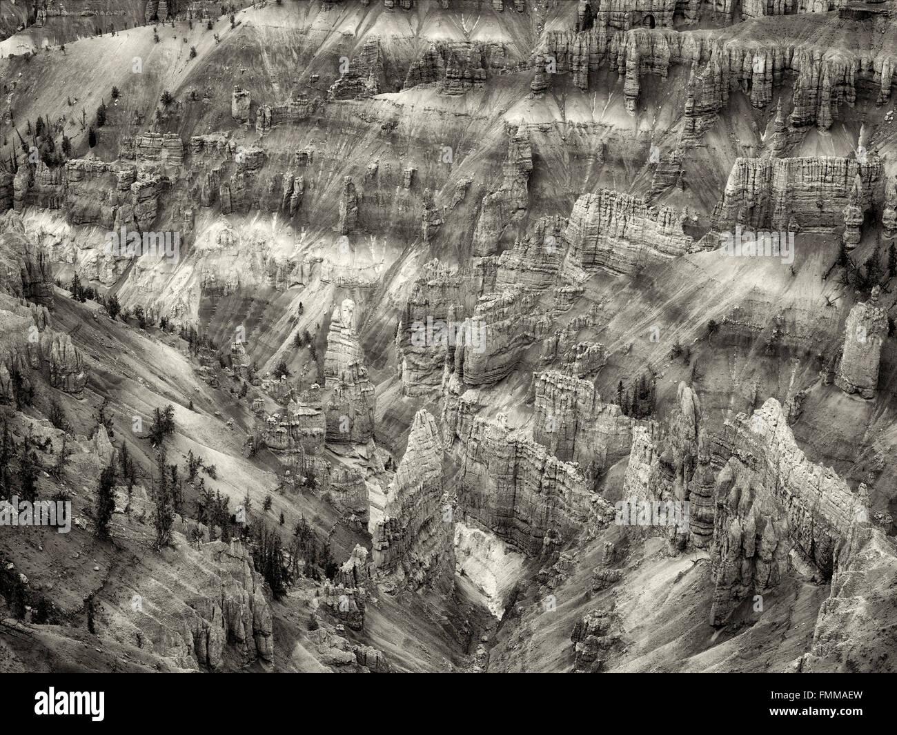 Canyon lands in Cedar Breaks National monument, Utah Stock Photo