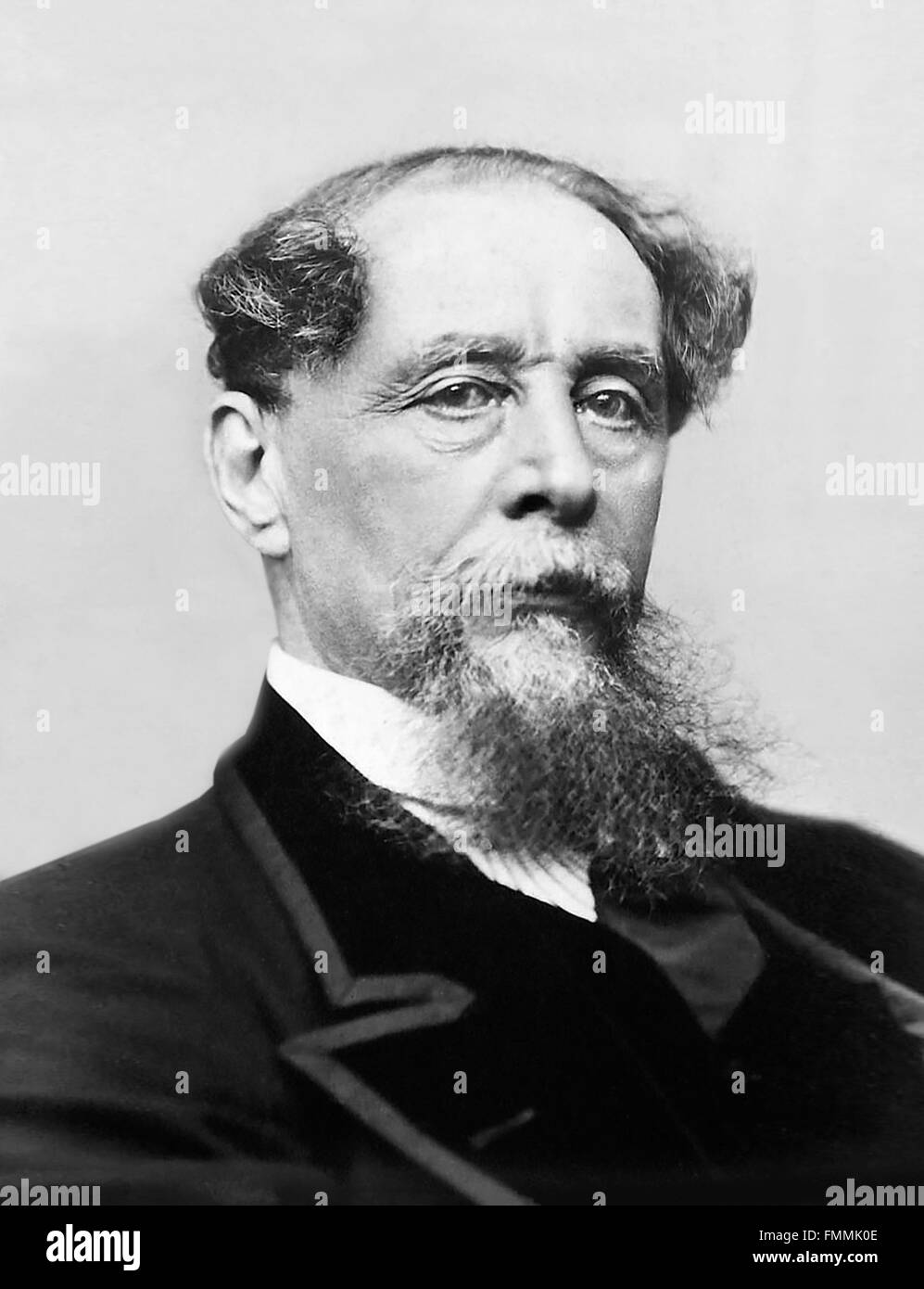 Charles Dickens. Portrait of the 19th century English writer, c.1867 - Stock Image