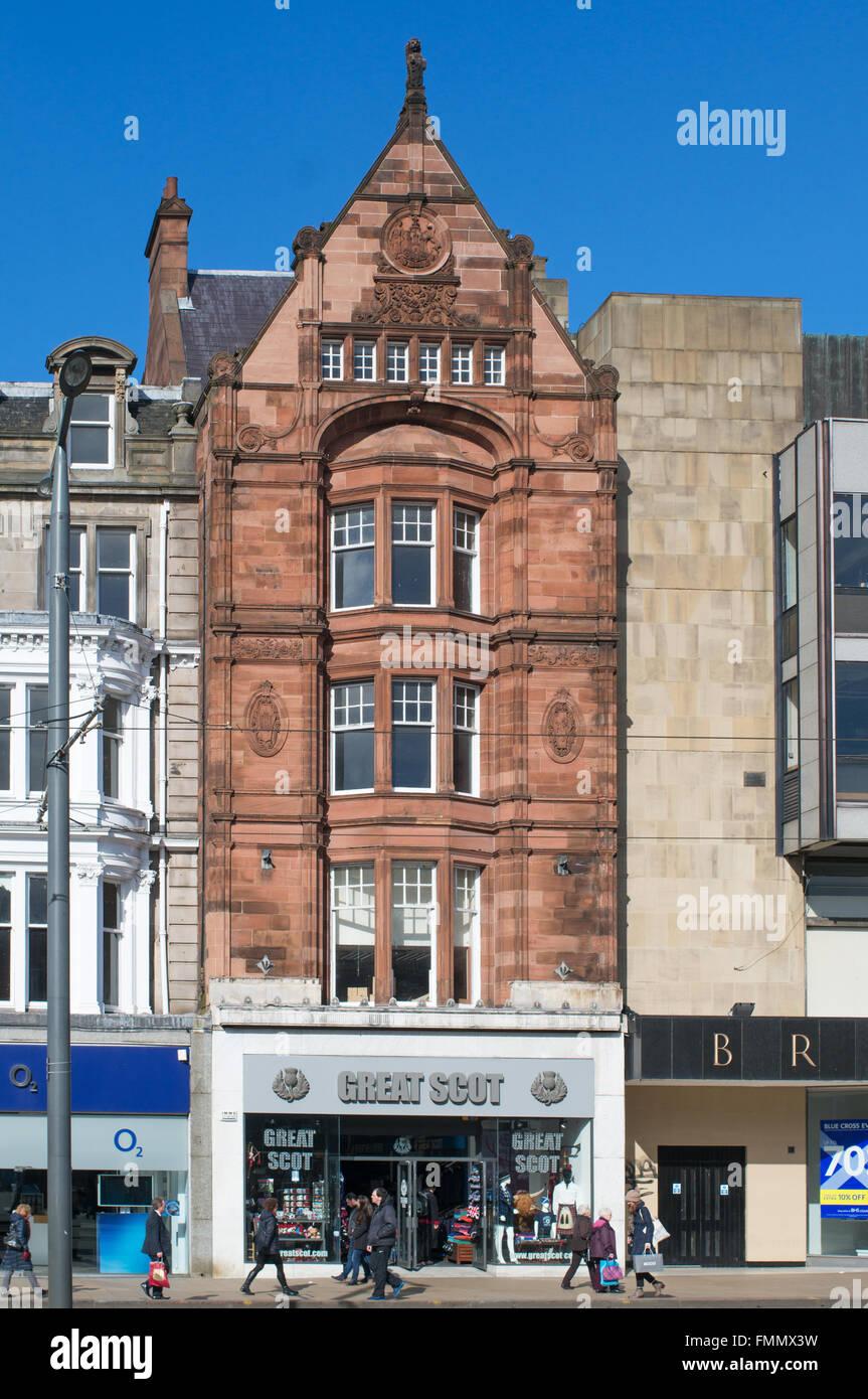 Great Scot shop in 19th century listed building by Hippolyte J Blanc, 70  Princes Street, Edinburgh, Scotland, UK - Stock Image