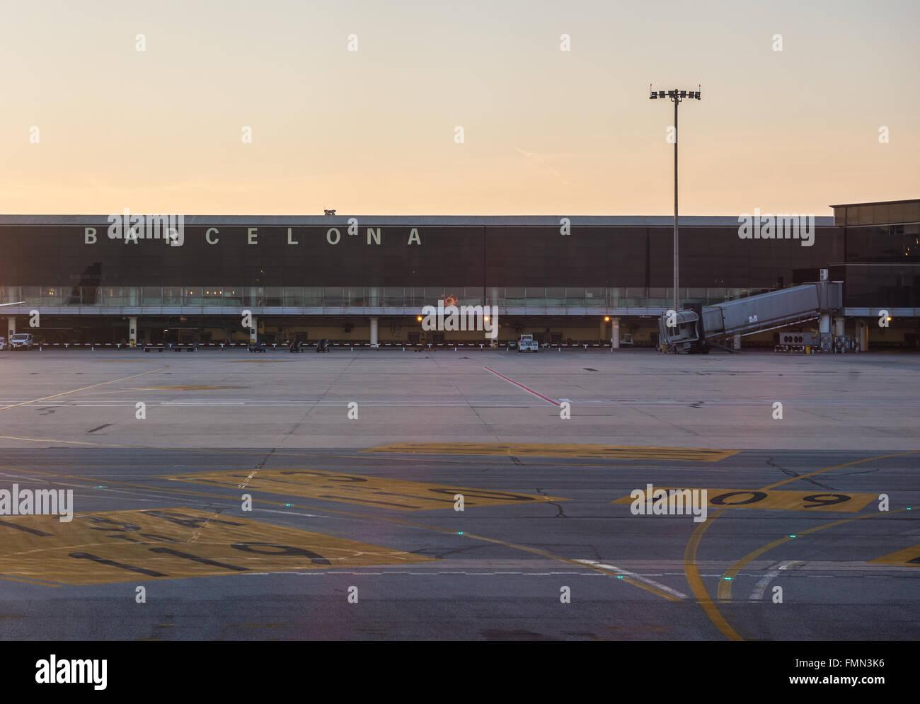 El Prat Airport in Barcelona, Spain - Stock Image