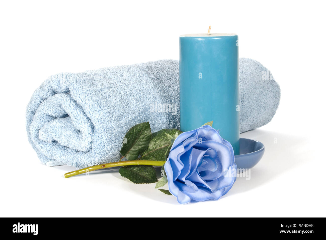 Relaxation in Blue - Stock Image