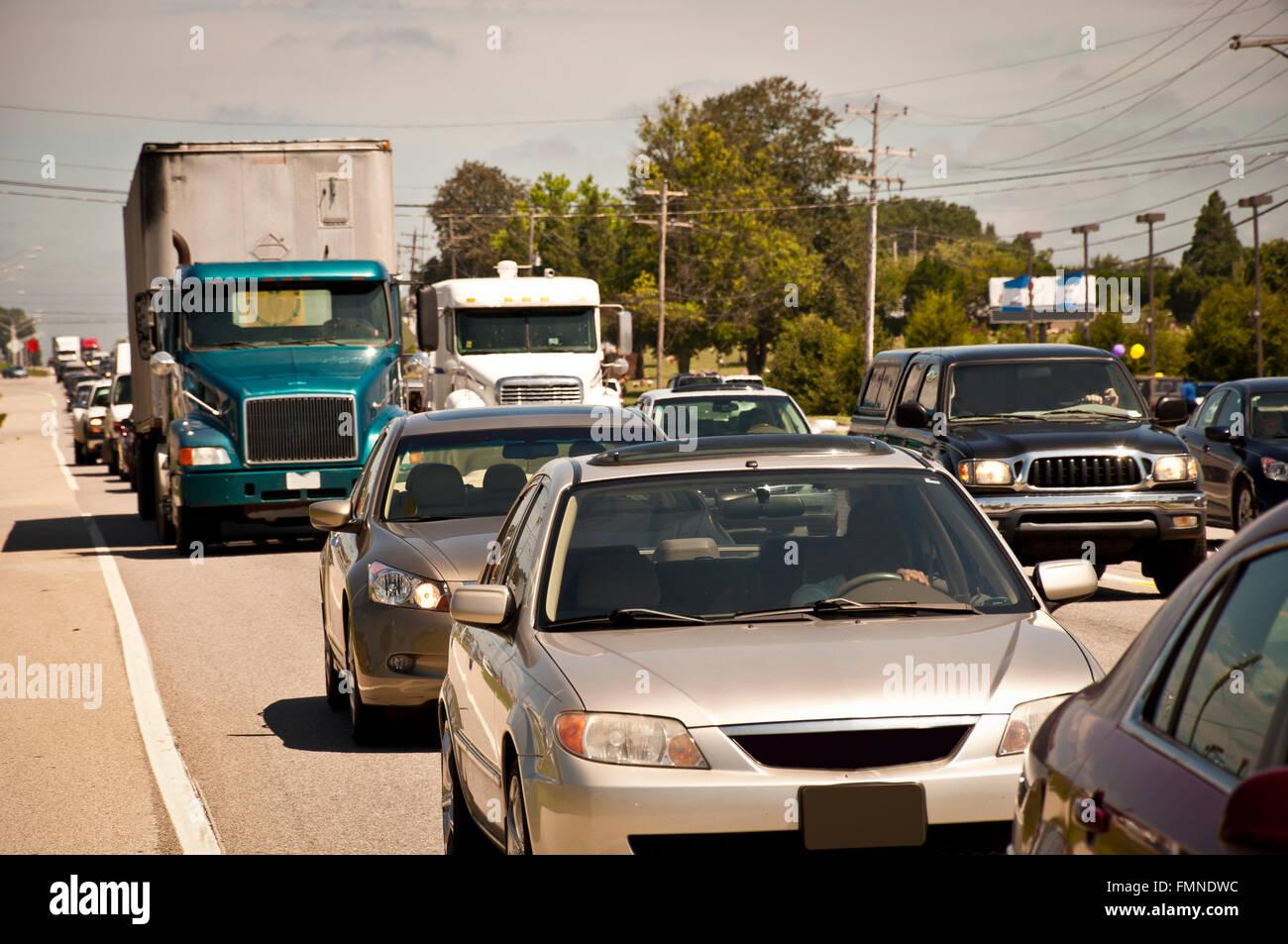 Rush Hour Traffic Jam - Stock Image