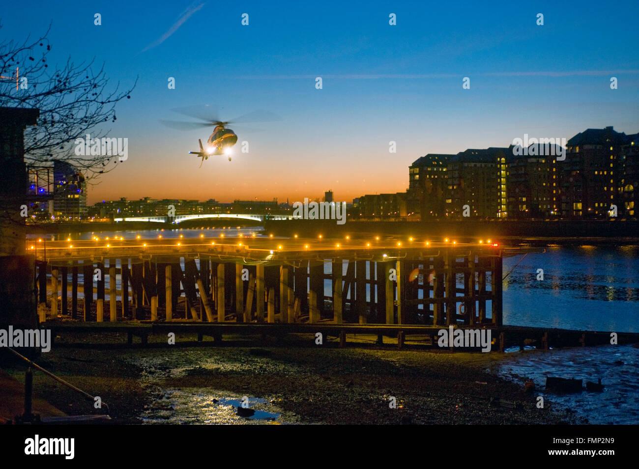 Battersea Heliport - Stock Image