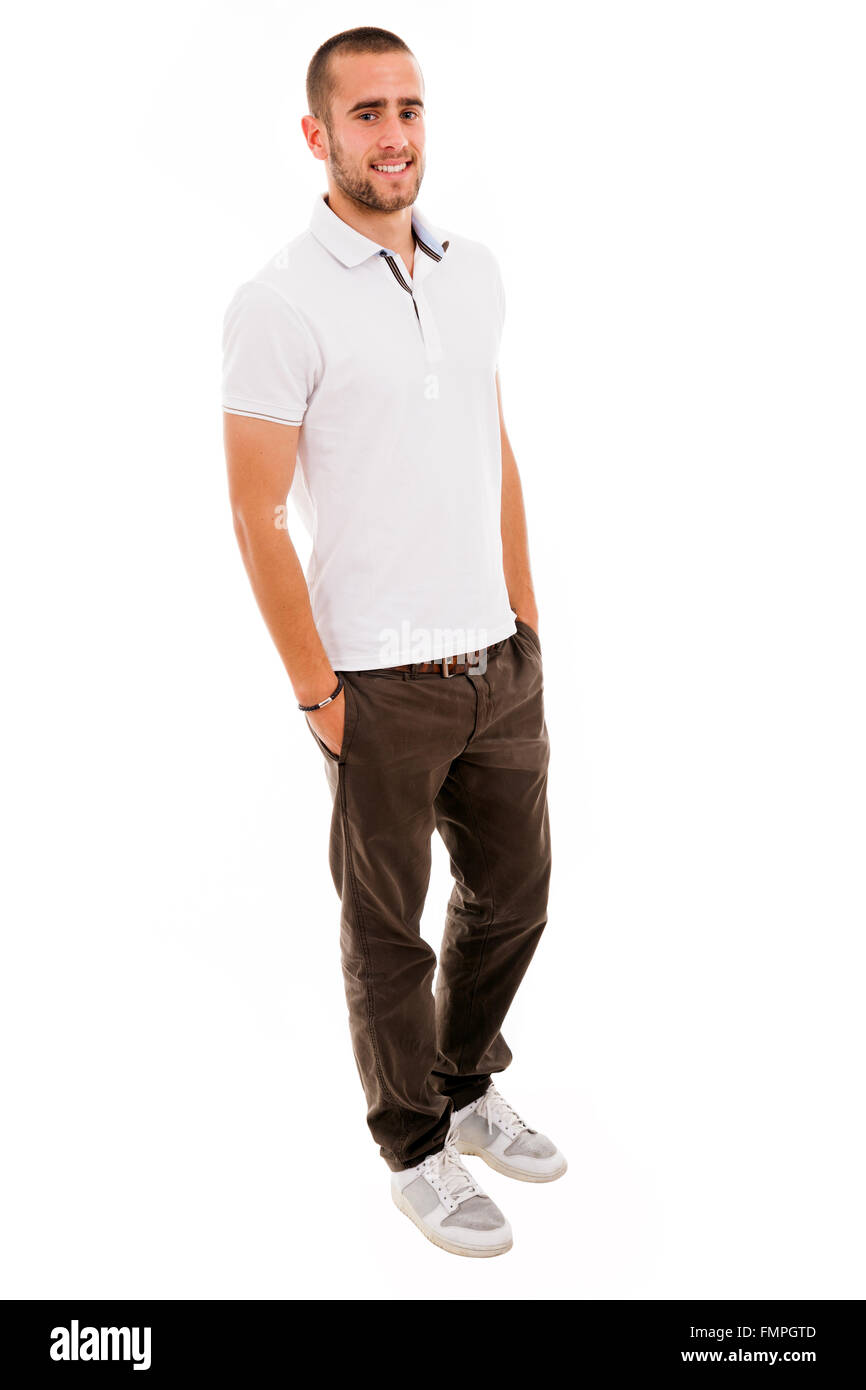 48ab8d5407f young casual man full body in a white background Stock Photo ...