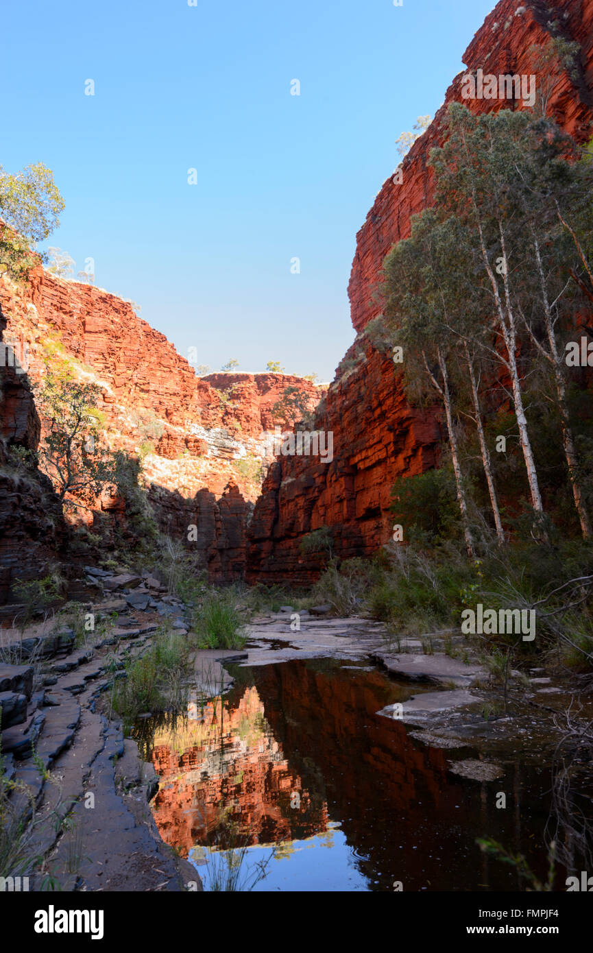 Knox Gorge, Karijini National Park, Pilbara, Western Australia, WA, Australia - Stock Image