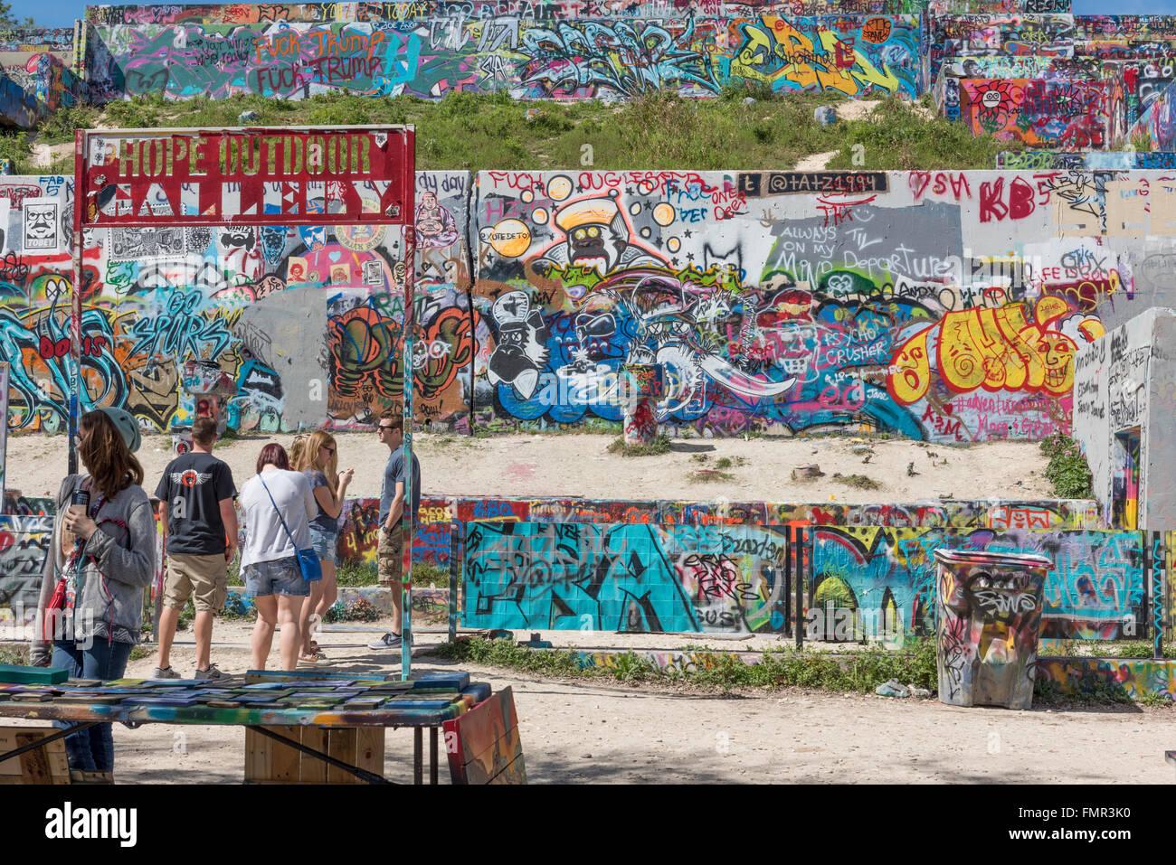 Austin graffiti park castle hill austin texas usa