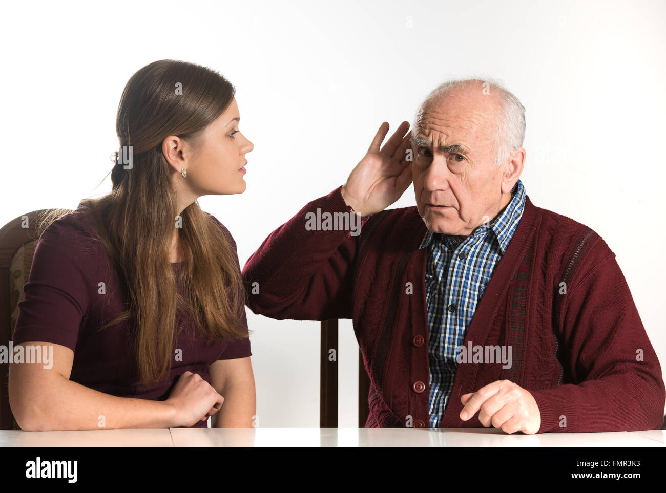 Deaf Woman Makes Hearing Test Stock Photos & Deaf Woman