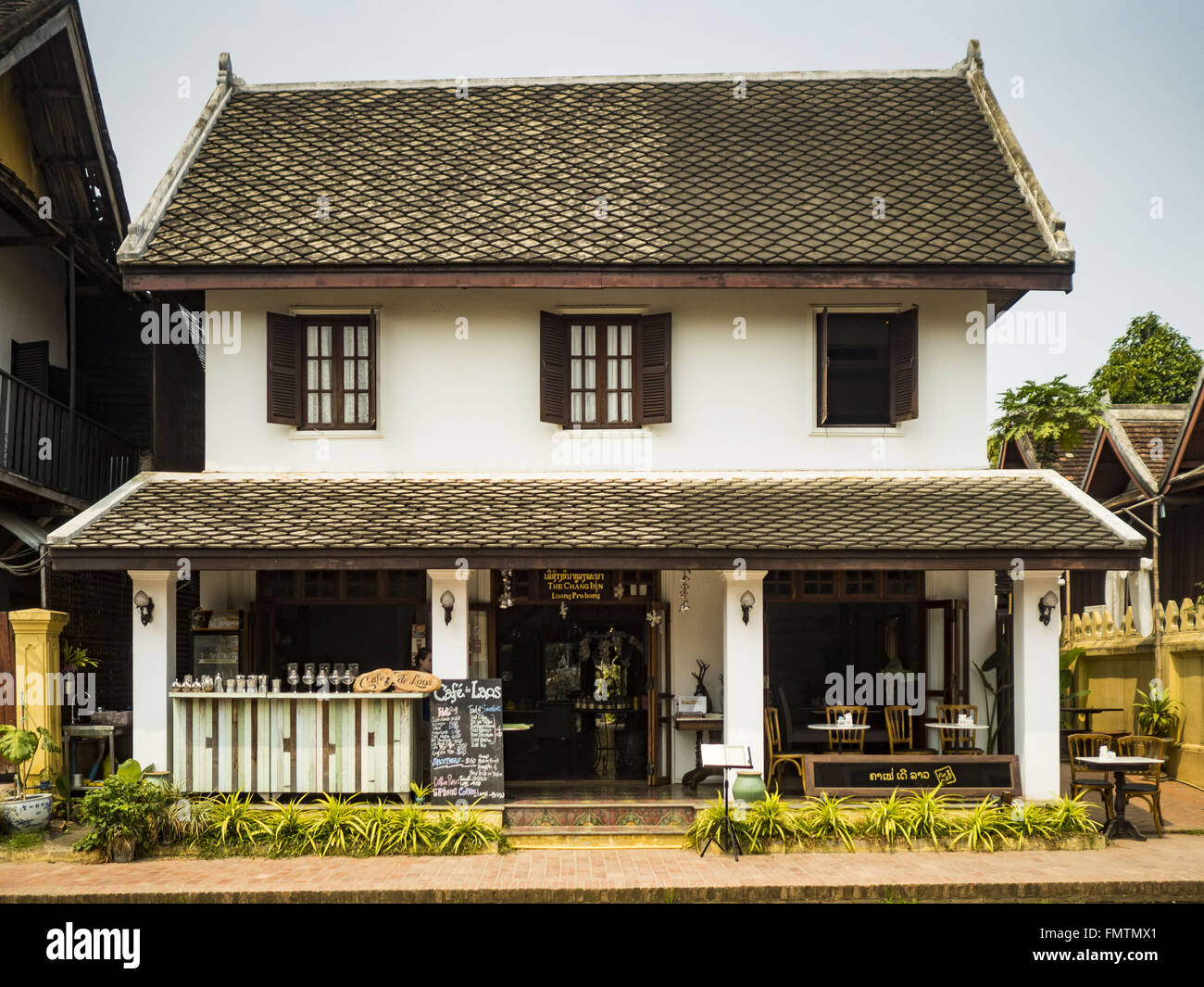 A Colonial Style Shophouse Turned Into Touristsu0027 Boutiques And Souvenir  Shops In Luang Prabang. Luang Prabang Was Named A UNESCO World Heritage  Site In ...