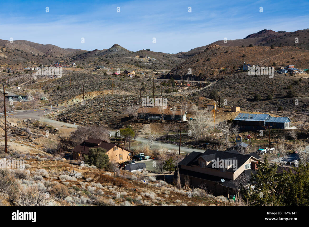 Community of Silver City in the state of Nevada, USA - Stock Image