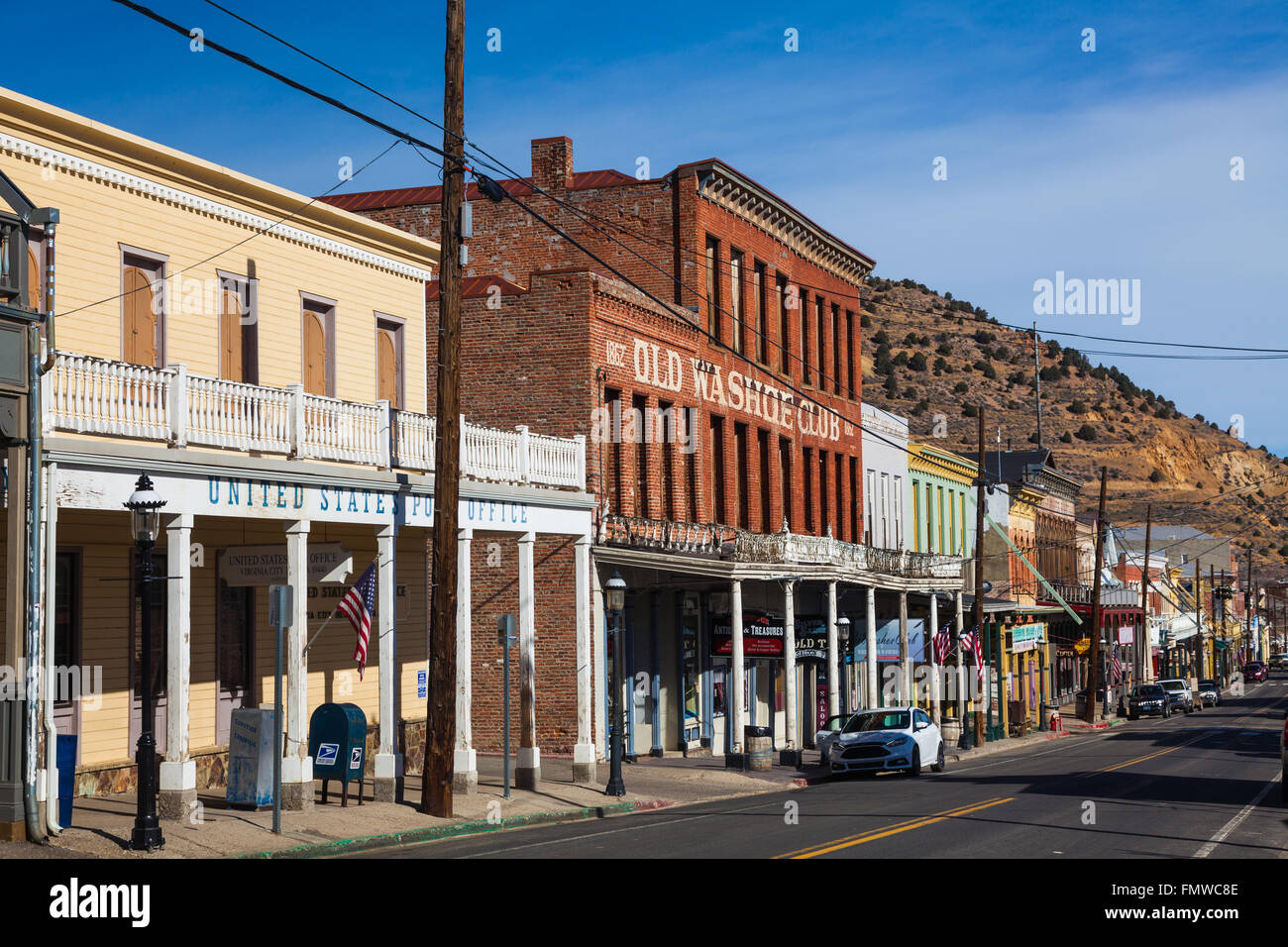 Street scene of Virginia City, Nevada, USA - Stock Image
