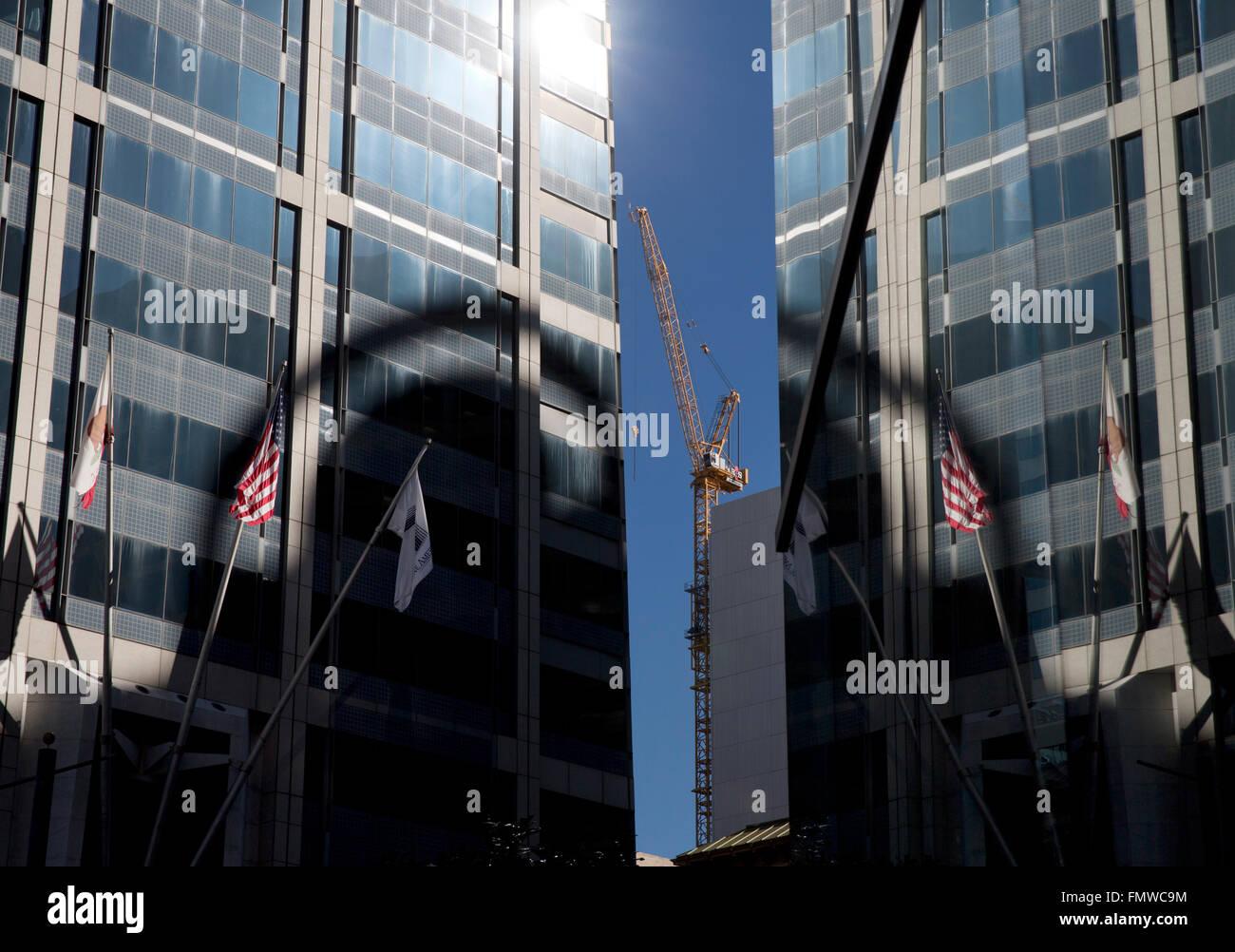 Reflective office buildings, San Diego California USA - Stock Image
