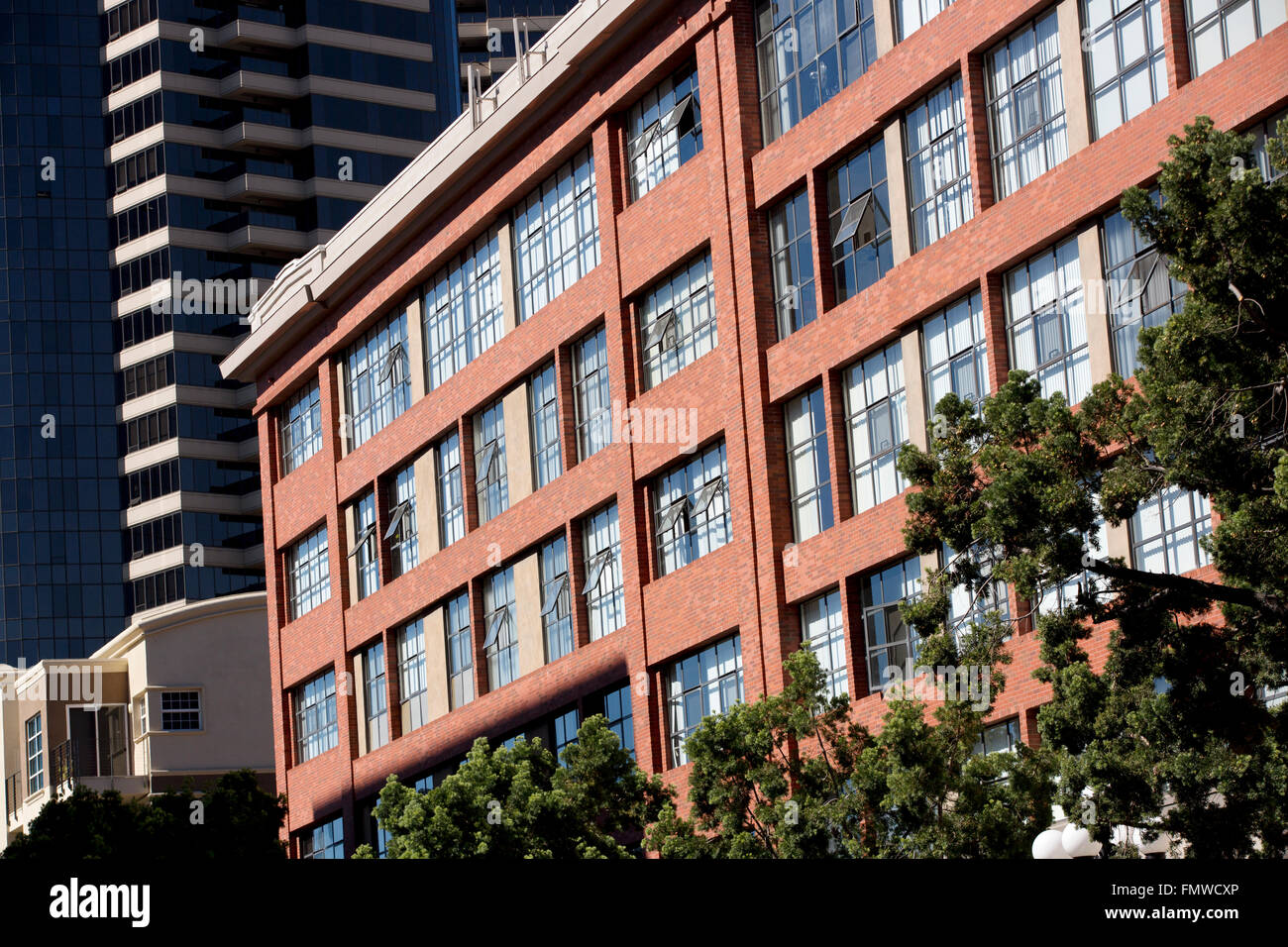 Loft building, Gaslamp Quarter, San Diego California USA - Stock Image