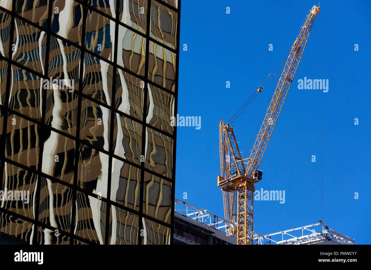Reflective office building, San Diego California USA - Stock Image