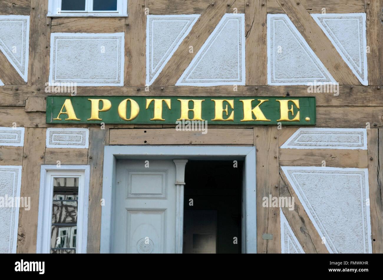 Apothekenschild - Stock Image