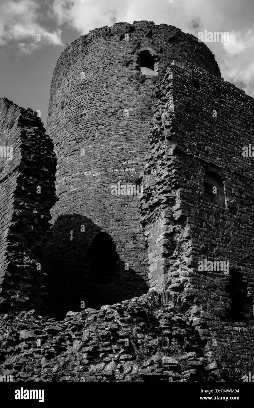 Tretower Castle Tower - Stock Image
