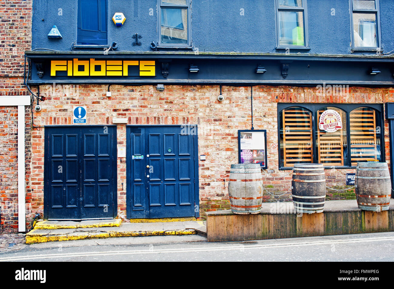 Fibbers Music venue, York - Stock Image