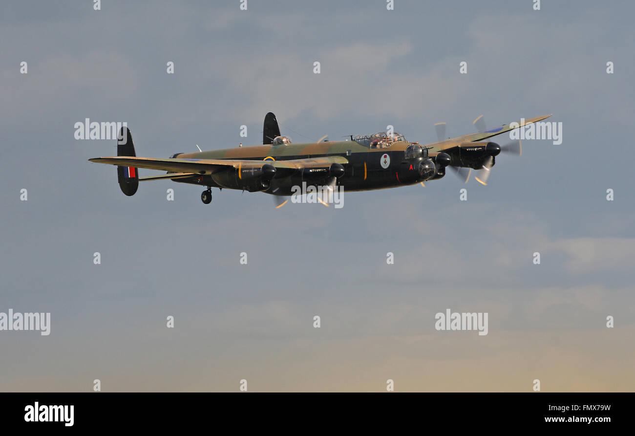 Canadian Warplane Heritage Museum's Lancaster Mk.X, FM213 - Stock Image
