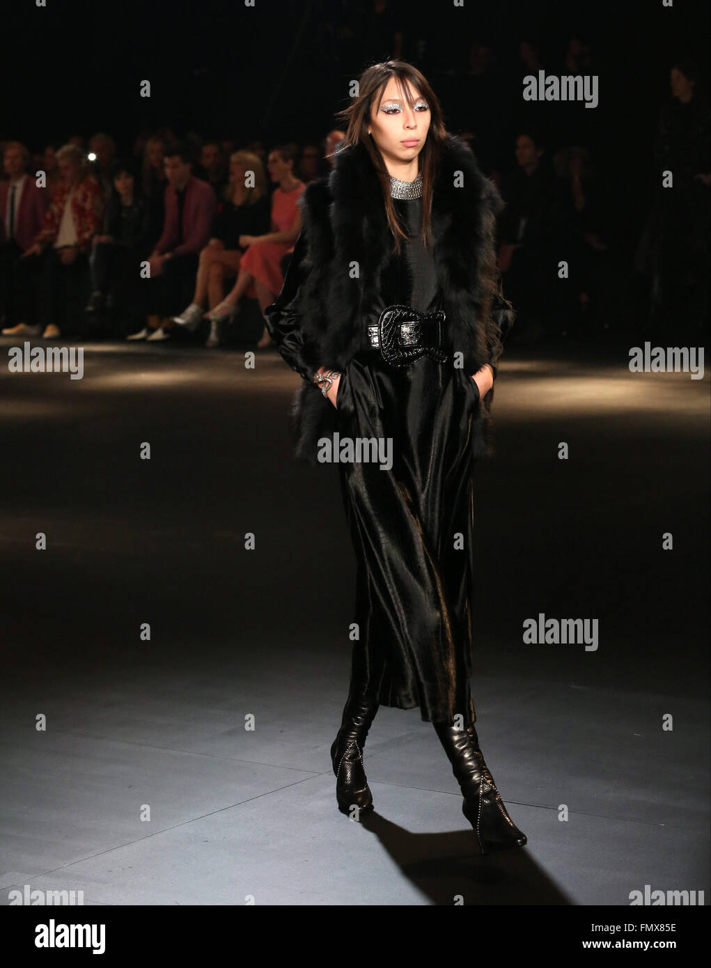ae726d74 Saint Laurent at Hollywood Palladium - Fashion Show Featuring: Model Where: Los  Angeles, California, United States When: 10 Feb 2016