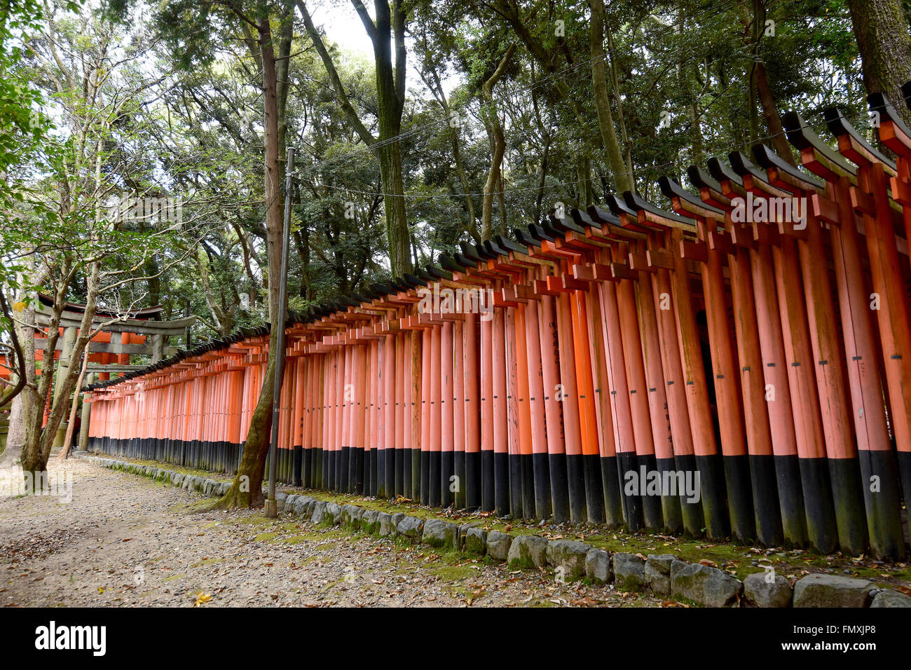 Fushimi Inari Taisha Shrine in Kyoto, Japan - Stock Image