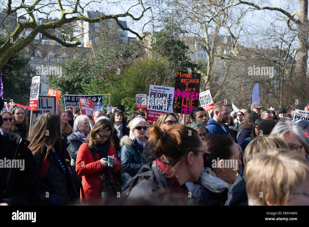 London, UK. 13th March, 2016. Protesters gather in London at Lincoln's Inn Field on 13th March 2016  to protest - Stock Image