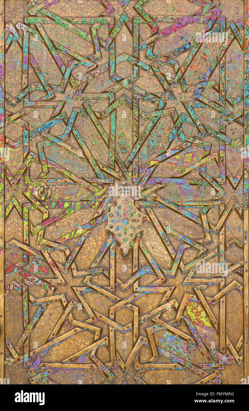 Abstract moorish background - mudejar gate - Stock Image