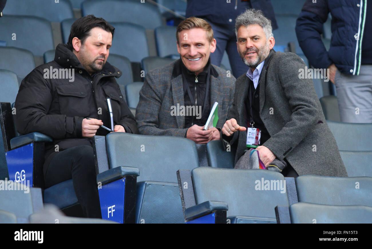 Hampden Park, Glasgow, Scotland. 13th Mar, 2016. Scottish League Cup Final. Hibernian versus Ross County. Paul Hartley, - Stock Image
