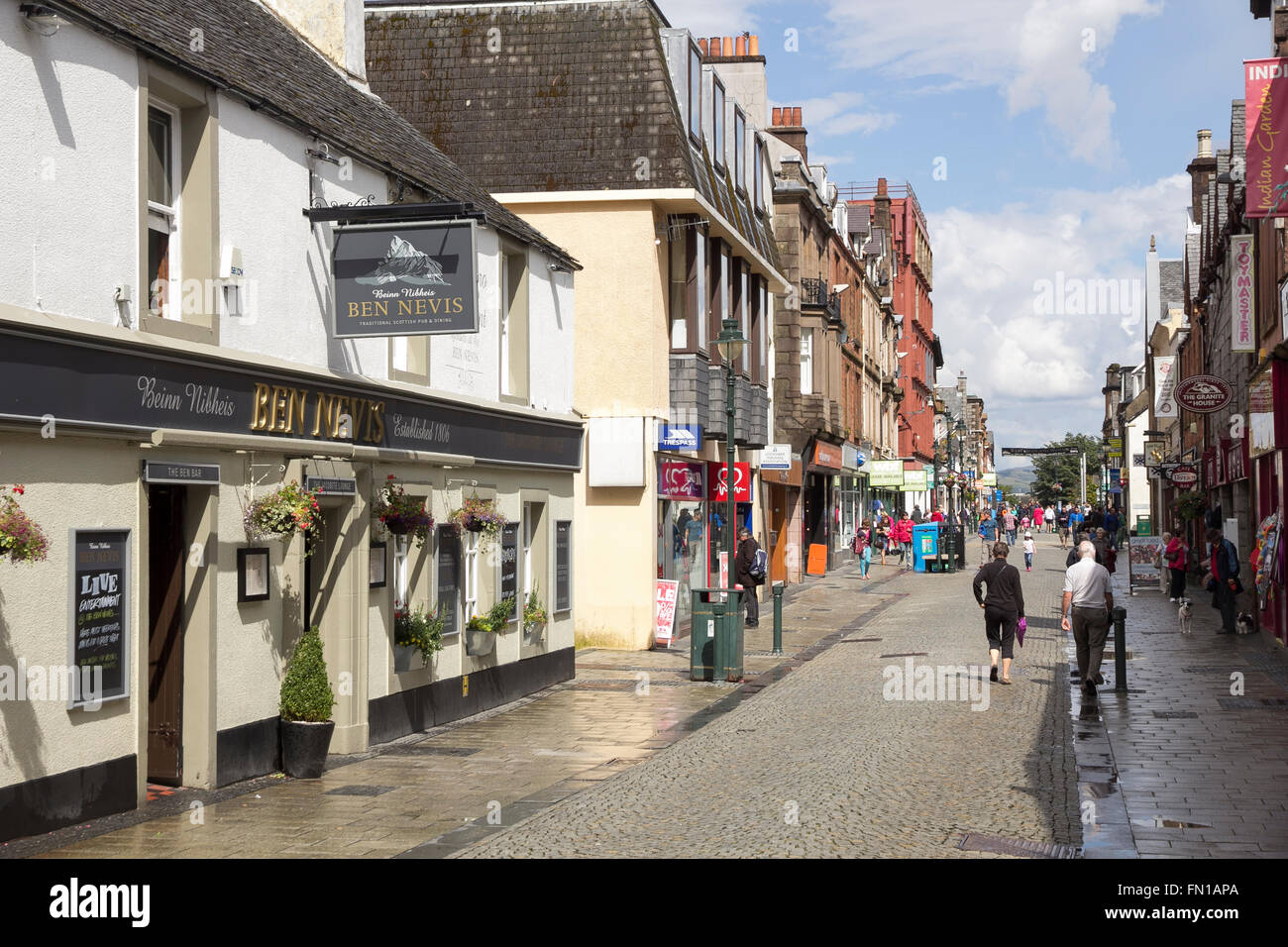 The High Street in Fort William, Lochaber, Highland, Scotland Stock Photo