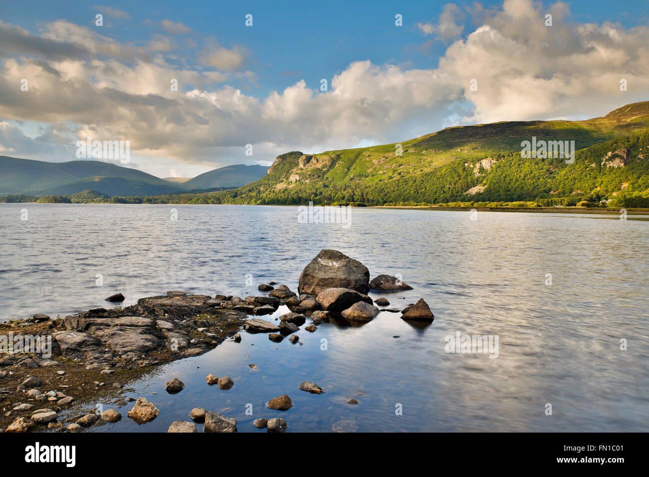 Derwent Water; Cumbria; UK - Stock Image