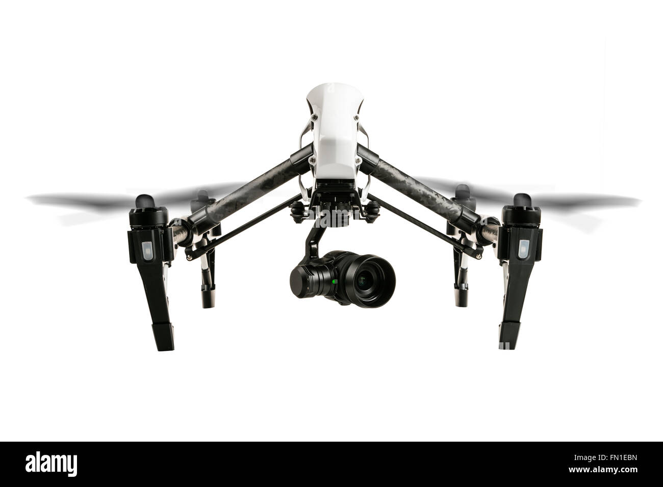 Drone isolated on white background - Stock Image