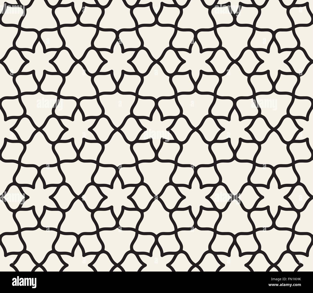 Islamic seamless pattern vectors - Stock Image