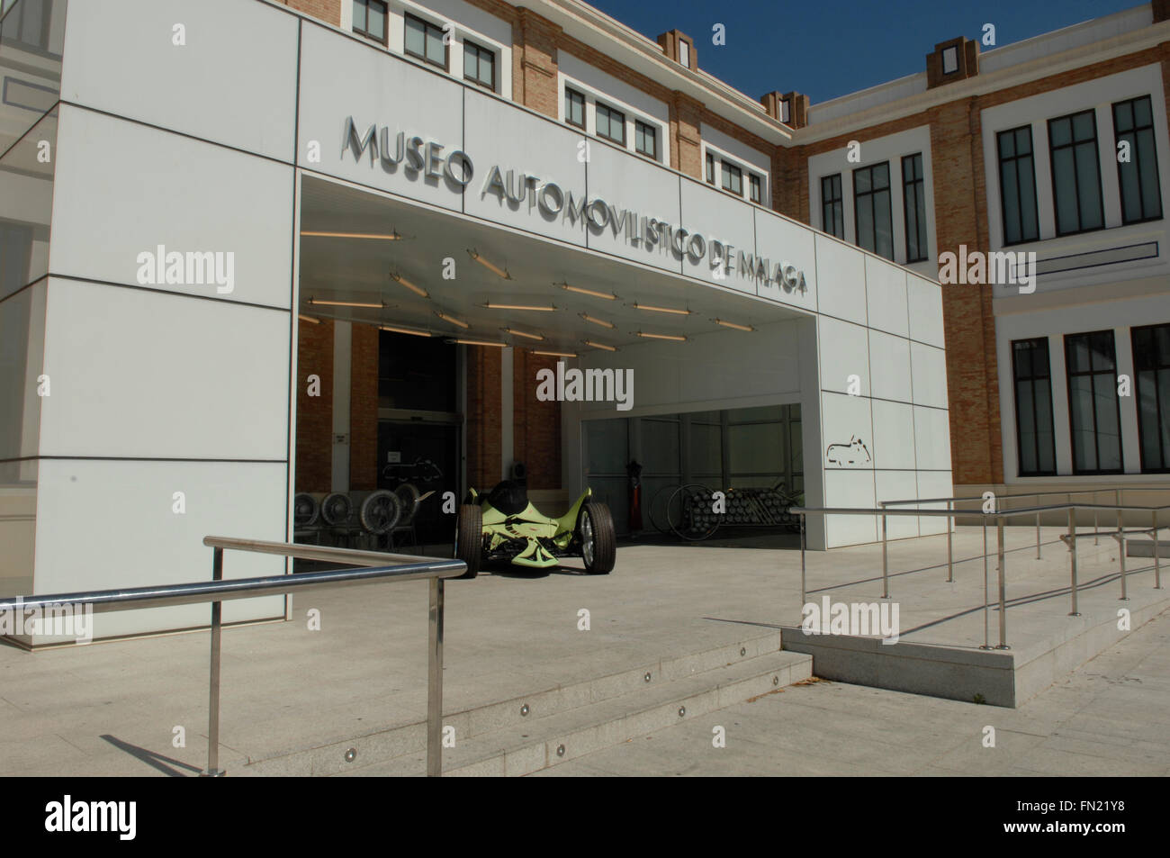 A picture of the entrance into the car museum, Malaga, Spain - Stock Image
