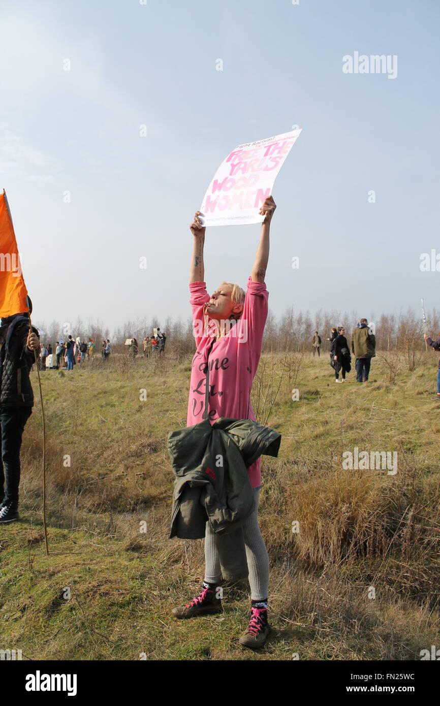 Yarl's Wood demonstration, Bedford, United Kingdom Stock Photo