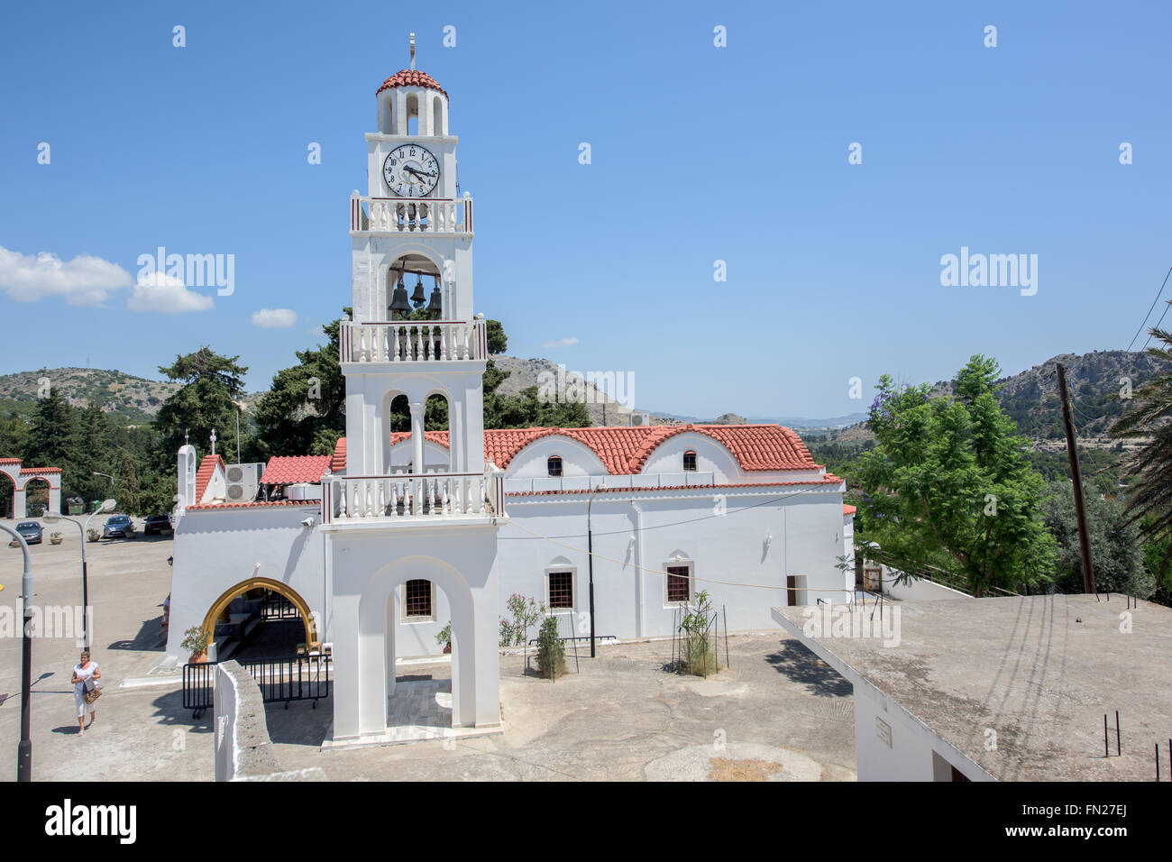 Monastery of Panagia Tsambika on Rhodos island - Stock Image