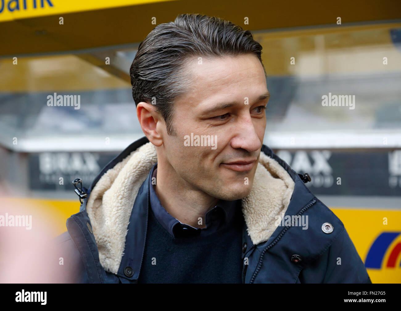 sports, football, Bundesliga, 2015/2016, Borussia Moenchengladbach versus Eintracht Frankfurt 3:0, Stadium Borussia - Stock Image