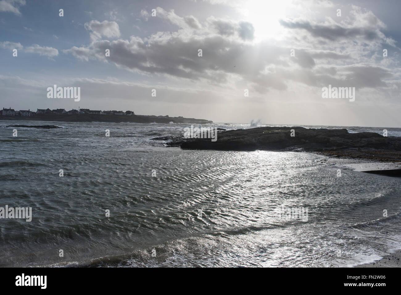 Trearddur Bay Anglesey North Wales Uk - Stock Image